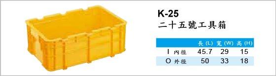 自動倉儲箱,K-25,二十五號工具箱