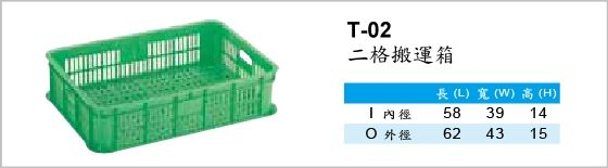 搬運箱,T-02,二格搬運箱
