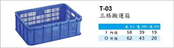 搬運箱,T-03,三格搬運箱