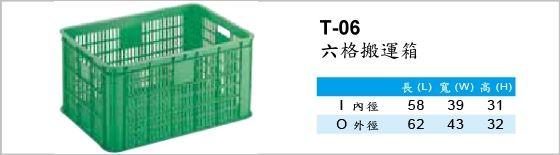 搬運箱,T-06,六格搬運箱
