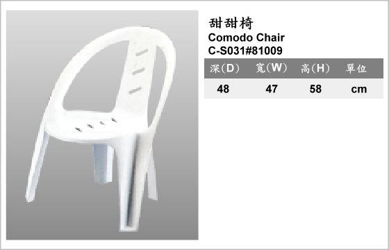 休閒家具,椅子,塑膠椅,C-S031#81009,Comodo Chair,甜甜椅