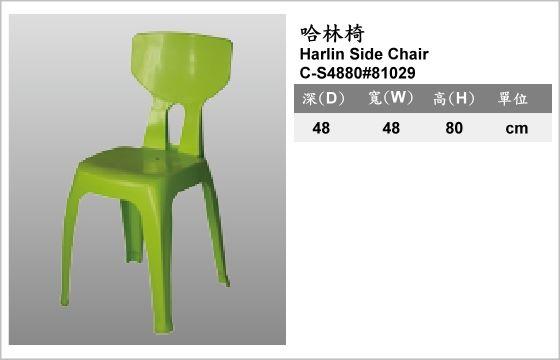 休閒家具,椅子,塑膠椅,C-S4880#81029,Harlin Side Chair,哈林椅