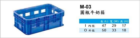 物流箱,M-03-圓瓶牛奶箱