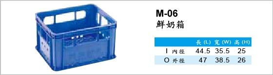 物流箱,M-06,鮮奶箱