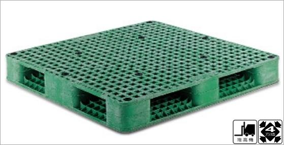 塑膠棧板,雙面裝載型,四方插,無發泡,自動倉儲用,堆高機可用,拖板車可用