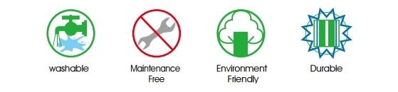 可水洗,不需使用工具,環保材質,可重複使用