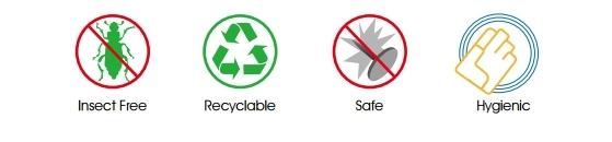 防蟲蛀,可回收,安全無顧慮