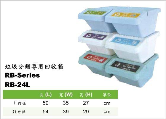 環保系列,回收箱,RB-24L,RB-Series,Garbage Classification,垃圾分類專用回收箱,適用於辦公室、收銀台、家庭等垃圾類專用回收筒