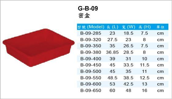週轉箱,G-B-09,密盒