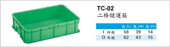 儲運箱,TC-02,二格儲運箱