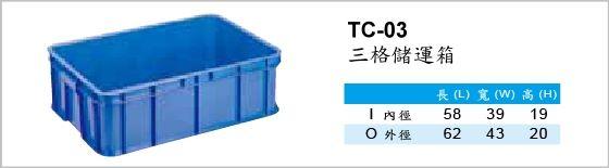 儲運箱,TC-03,三格儲運箱